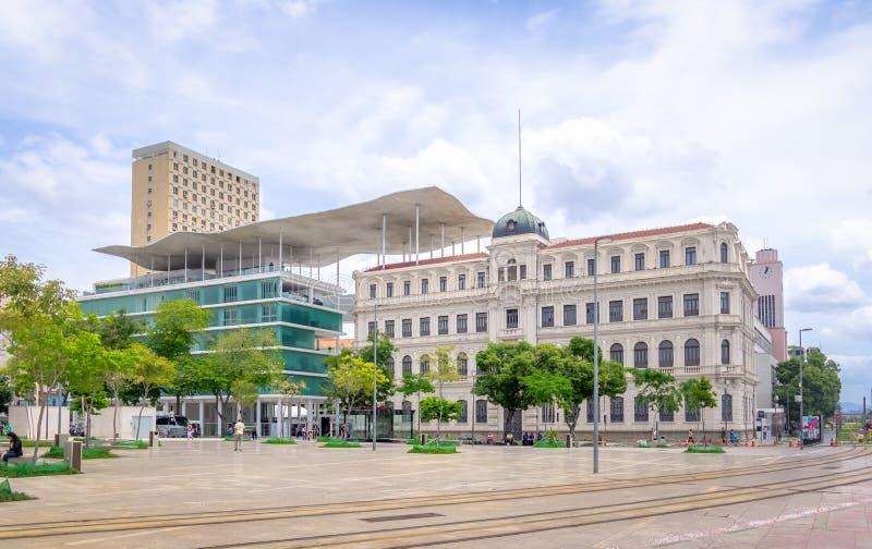 Rio Museum del arte - Museu de Arte haga Río - MARCHA - en el cuadrado de Maua - Rio de Janeiro, el Brasil foto de archivo libre de regalías