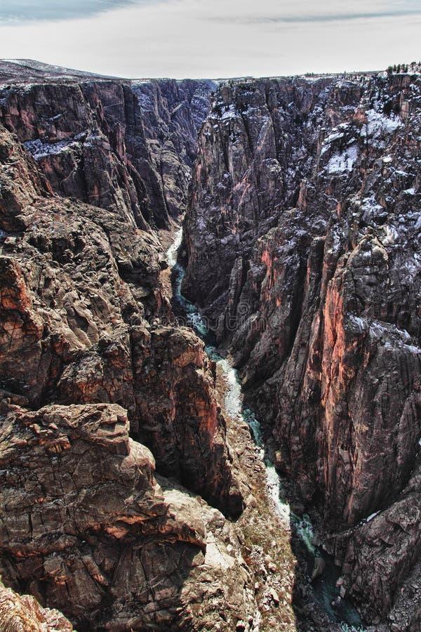 Rio na garganta preta do parque de Gunnison, CO imagem de stock