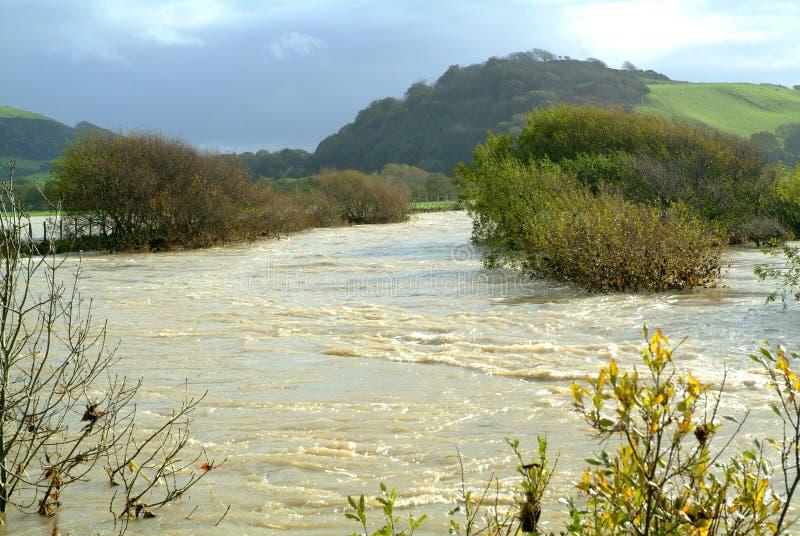 Rio na inundação imagens de stock royalty free
