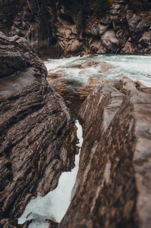Rio nas montanhas do bukovel fotos de stock