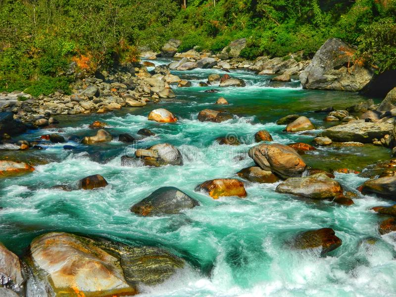 Rio Nepal Mewakhola imagens de stock royalty free