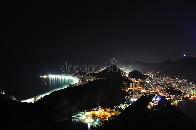 Rio in night stock images
