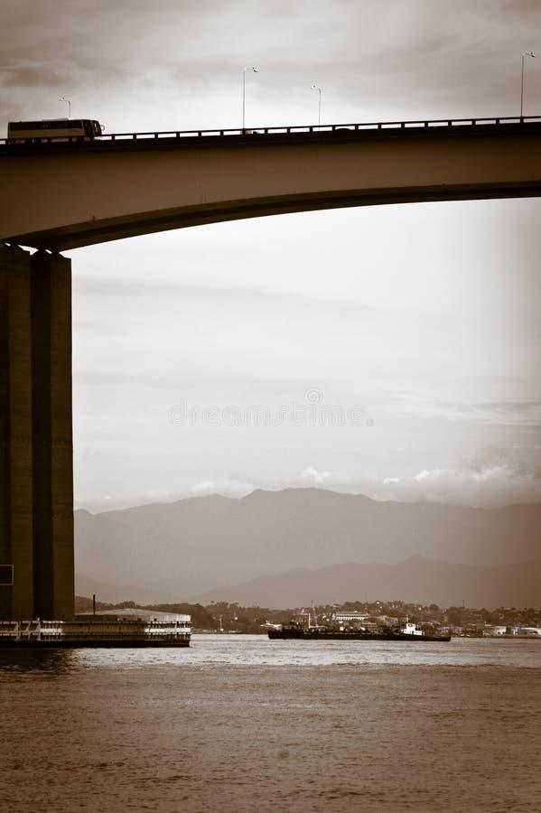 Download Rio-Niteroi bridge stock image. Image of coastal, mountains - 19976049