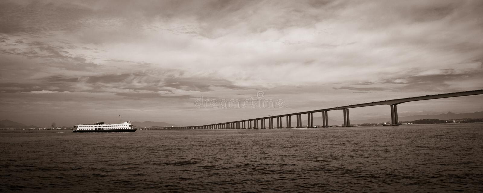 Rio-Niteroi Bridge Royalty Free Stock Images