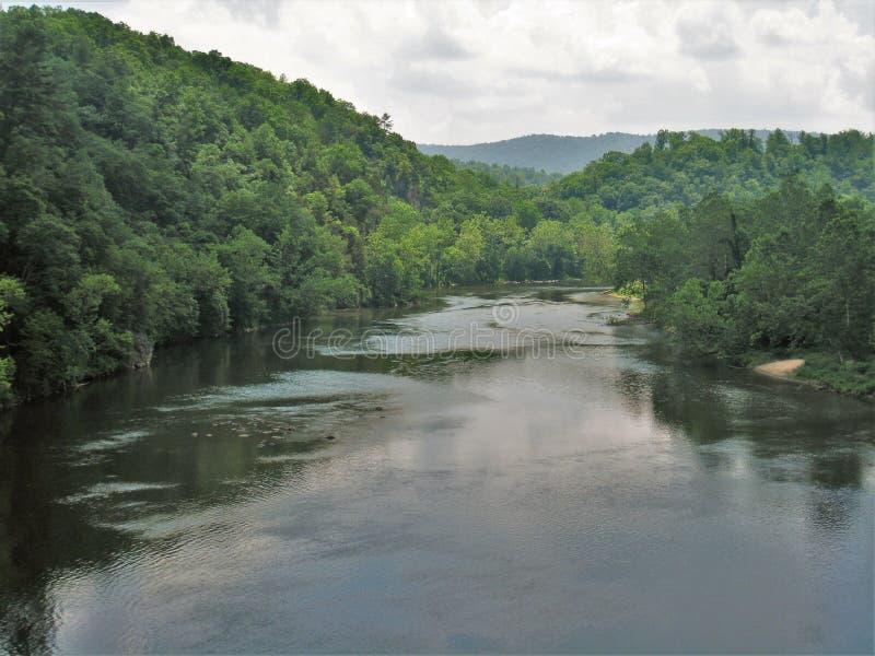 Rio novo de North Fork imagens de stock royalty free