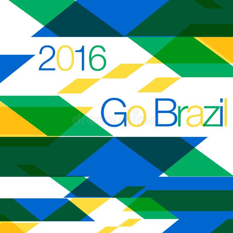 Rio Olimpijski 2016 - Akcyjna ilustracja ilustracji