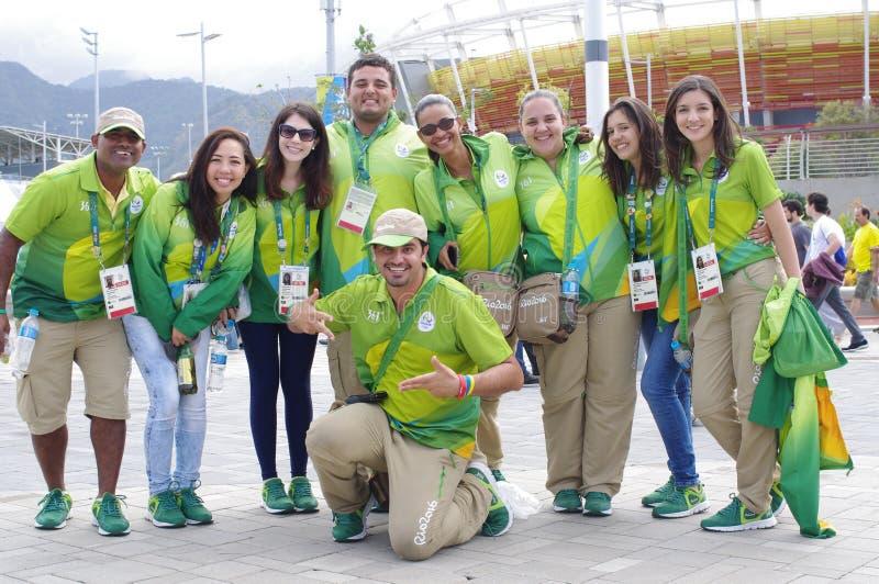 Rio 2016 Olimpijskich wolontariuszów obraz stock