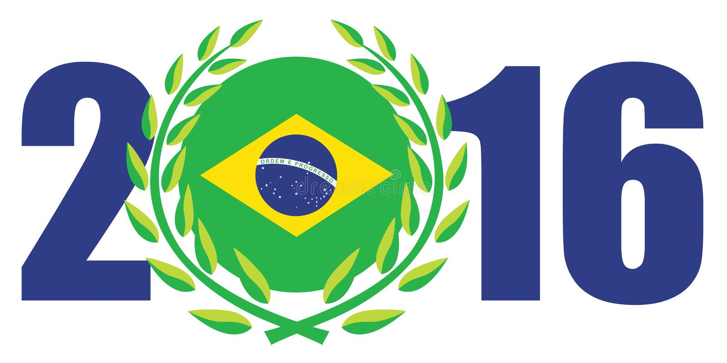Rio Olympic games 2016 stock illustration