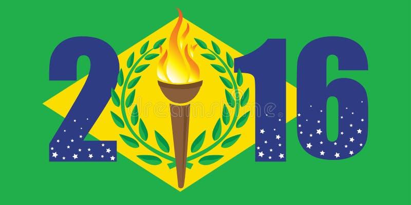 Rio Olympic spelar 2016 royaltyfri foto
