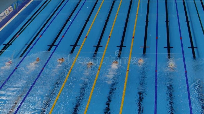 Rio 2016 - Olympisch Aquatisch Stadion stock afbeelding