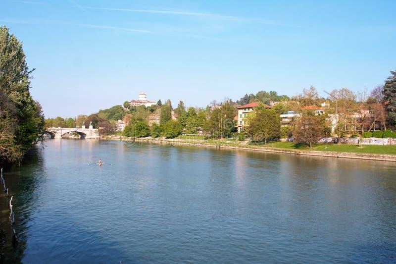 Rio Po em Turin fotografia de stock royalty free