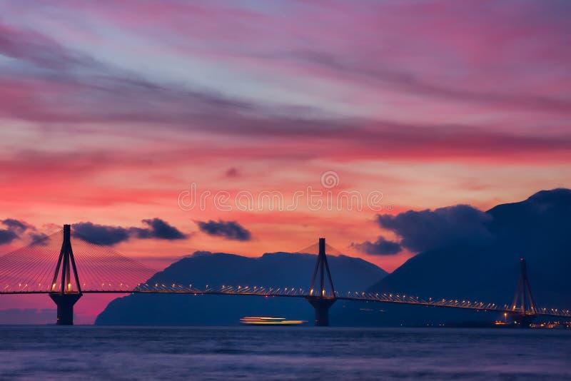 Rio - ponte de Antirrio imagem de stock