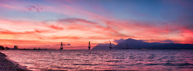Rio - ponte de Antirrio imagem de stock royalty free