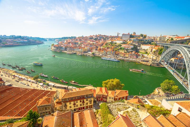 Rio Porto de Douro fotografia de stock