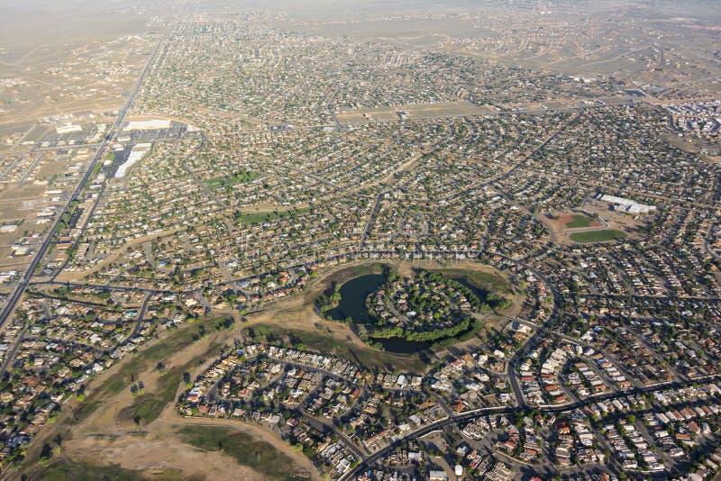 Rio Rancho, New Mexiko-Antenne lizenzfreie stockfotografie