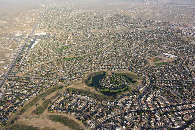 Rio Rancho, Nowy - Mexico antena fotografia royalty free