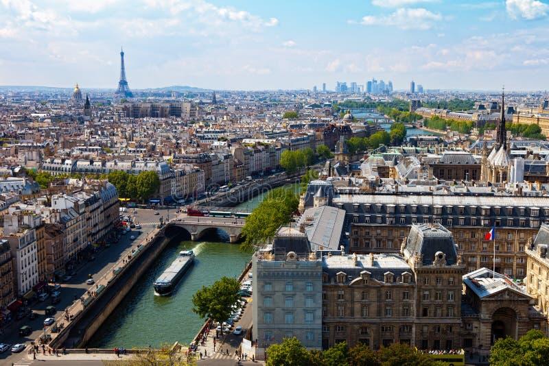 Rio Seine da vista superior imagens de stock royalty free