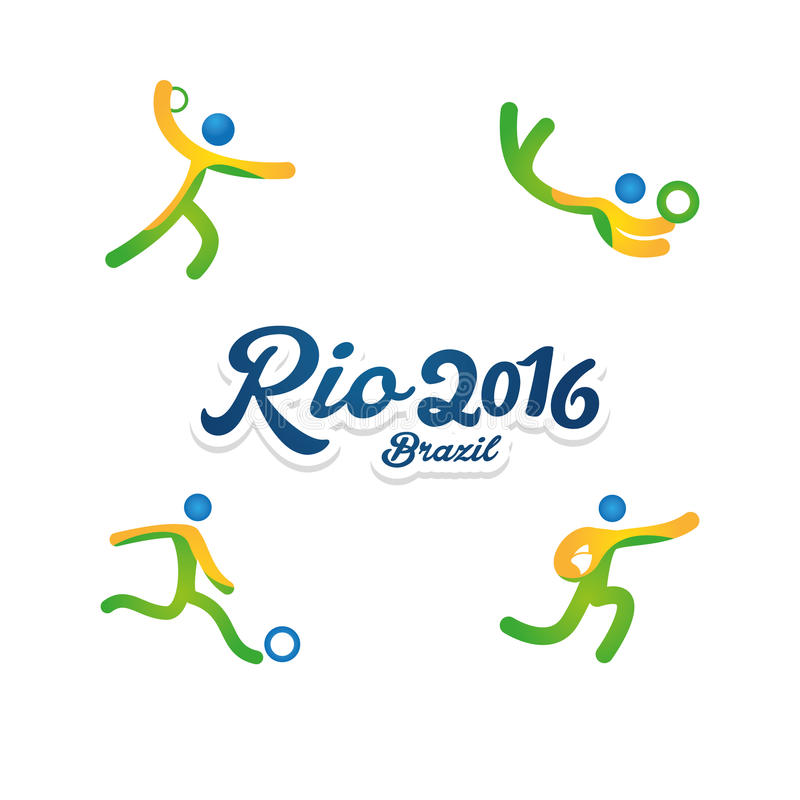 Rio 2016 royalty free illustration