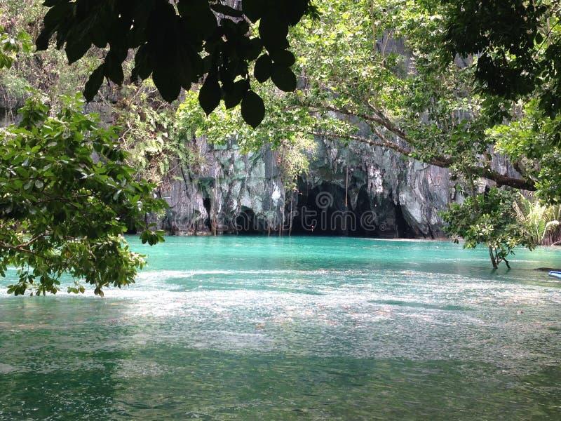 Rio subterrâneo de Puerto Princesa fotografia de stock royalty free