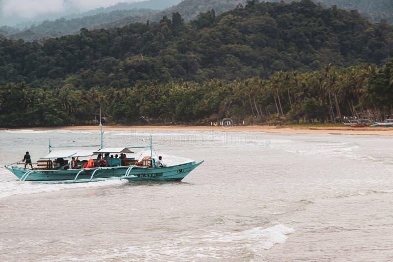Rio subterrâneo em Puerto Princesa fotos de stock royalty free
