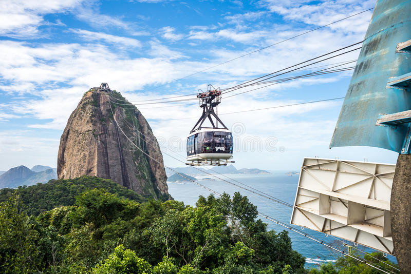 Rio Sugar Loaf Cable Car imagem de stock royalty free