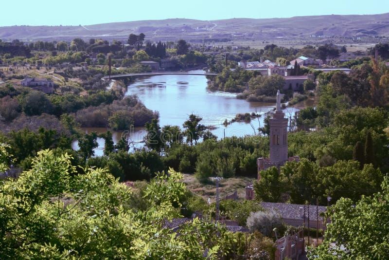 Rio Tajo en old Toledo royalty free stock images