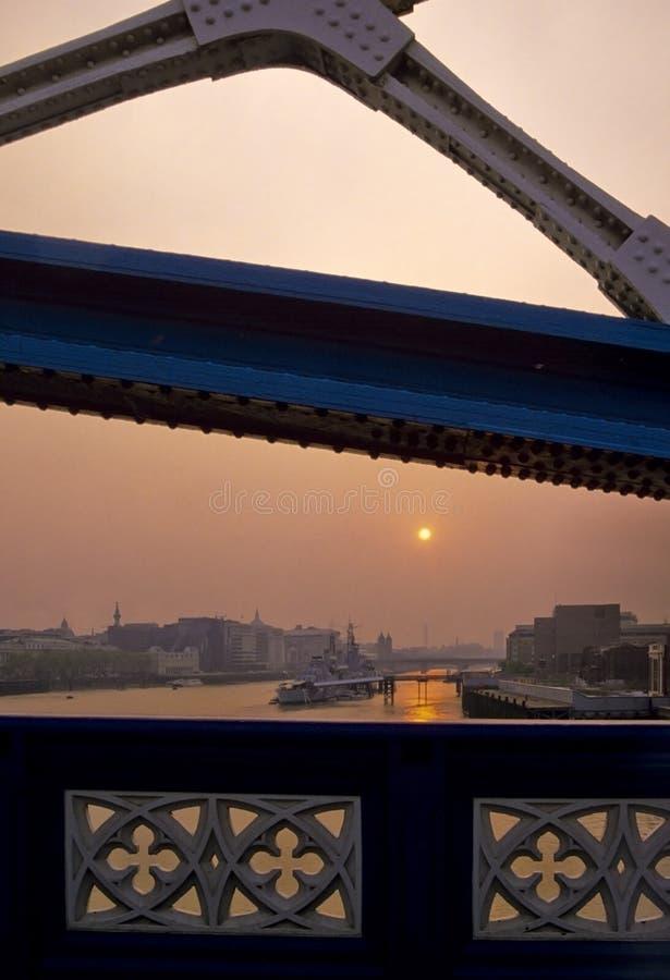 Rio Tamisa do por do sol fotografia de stock