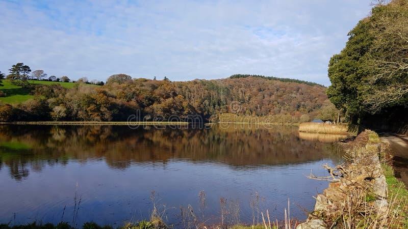 Rio Tavy Lopwell dartmoor devon imagem de stock royalty free