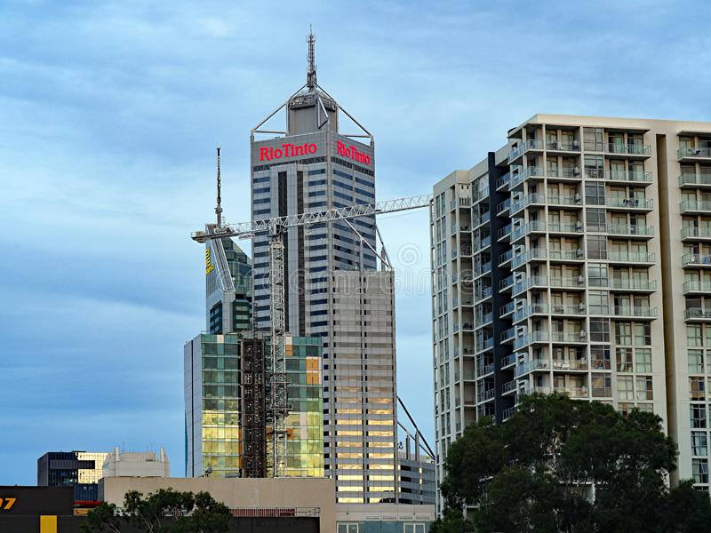 Rio Tinto Office Tower, Perth, Western Australia stock photo