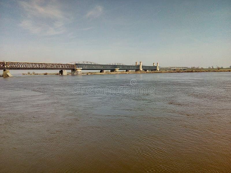 Rio velho de poland da ponte fotografia de stock