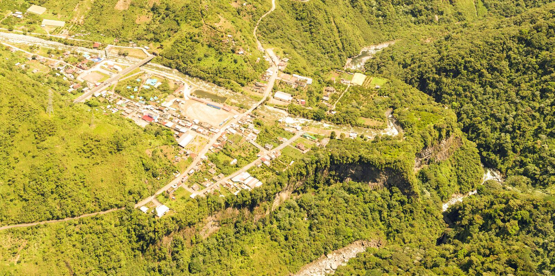 Rio Verde Aerial Panorama royalty-vrije stock afbeelding
