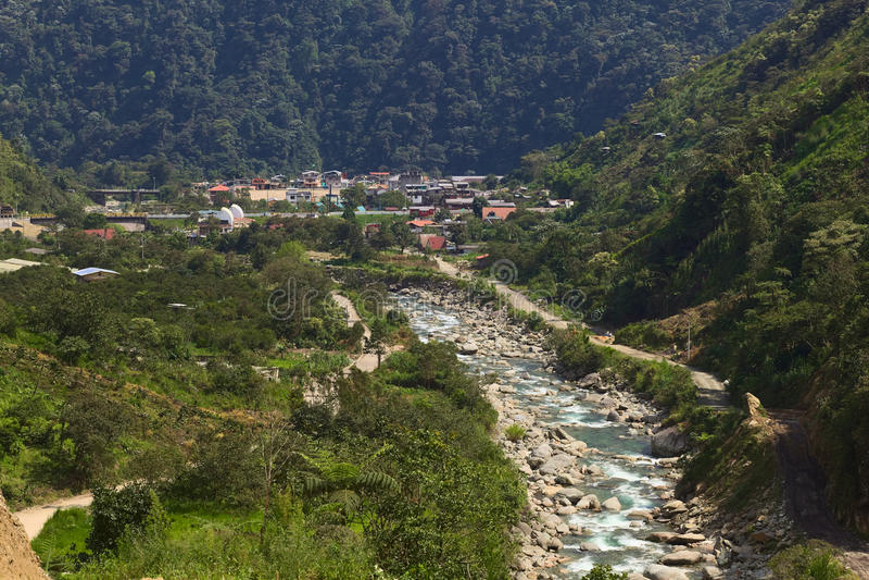 Rio Verde in Ecuador stock foto's