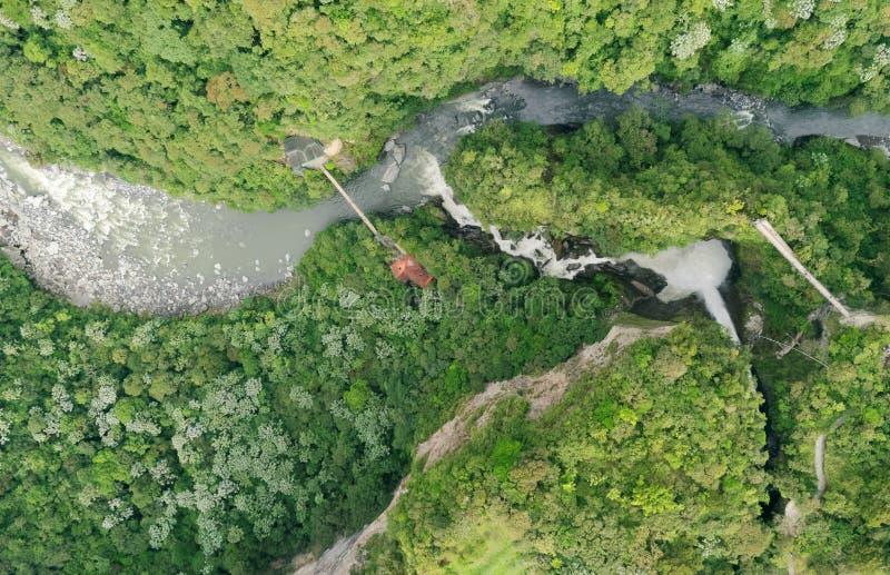 Rio Verde Ecuador With Pailon Del Diablo royalty-vrije stock foto