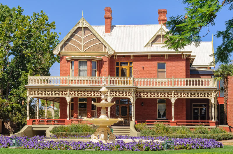 Rio Vista - Mildura. Rio Vista historic house used to be the home of William Benjamin Chaffey - Mildura, Victoria, Australia, 8 February 2013 royalty free stock images