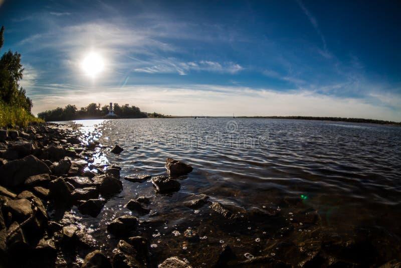 Rio Volga imagem de stock royalty free