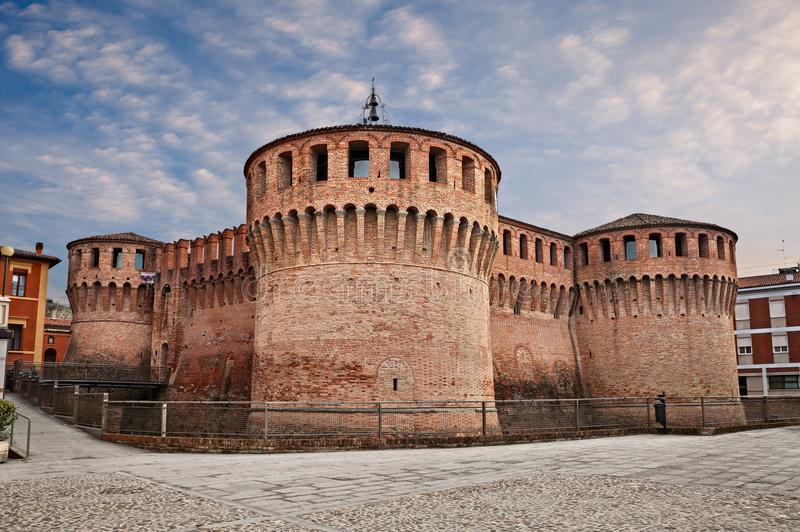 Riolo Terme, Ραβένα, Αιμιλία-Ρωμανία, Ιταλία: το μεσαιωνικό κάστρο στοκ φωτογραφία με δικαίωμα ελεύθερης χρήσης
