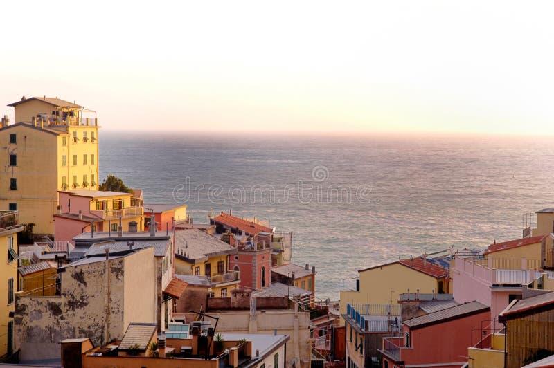 Download Riomaggiore, cinque terra, stock photo. Image of flower - 93529066