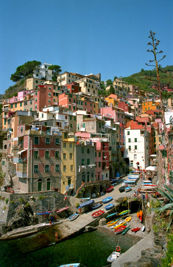 Riomaggiore in the Cinque terre royalty free stock image
