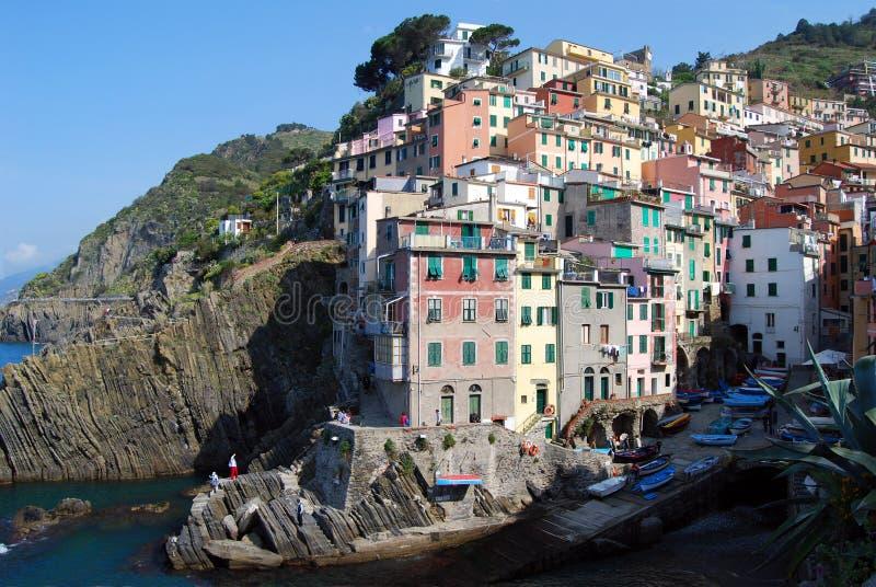 Riomaggiore-Cinque Terre imagen de archivo