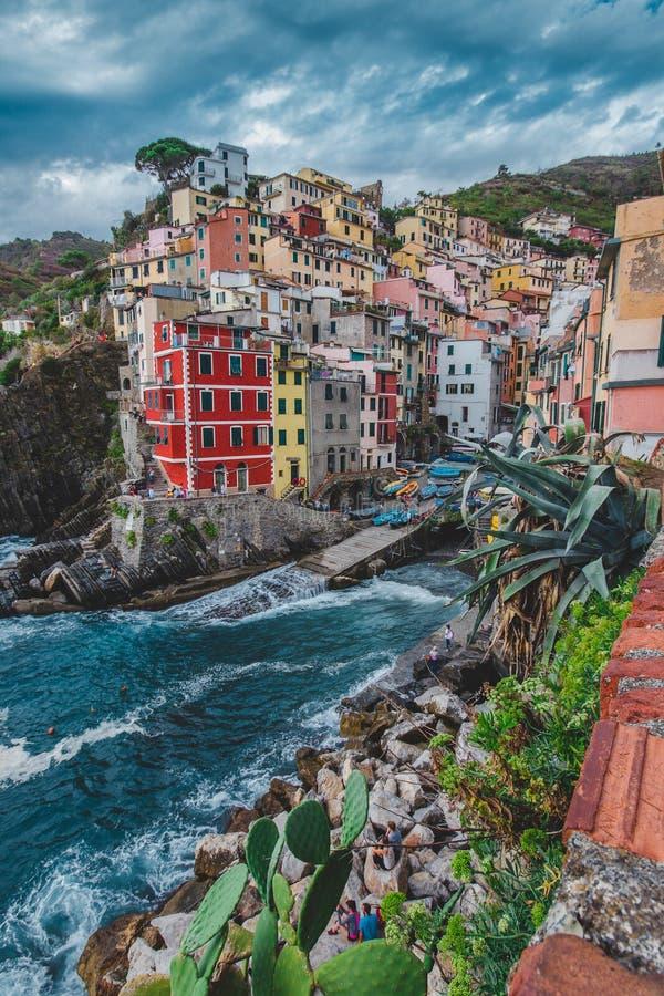 Riomaggiore, Cinque Terre, Italië royalty-vrije stock foto's