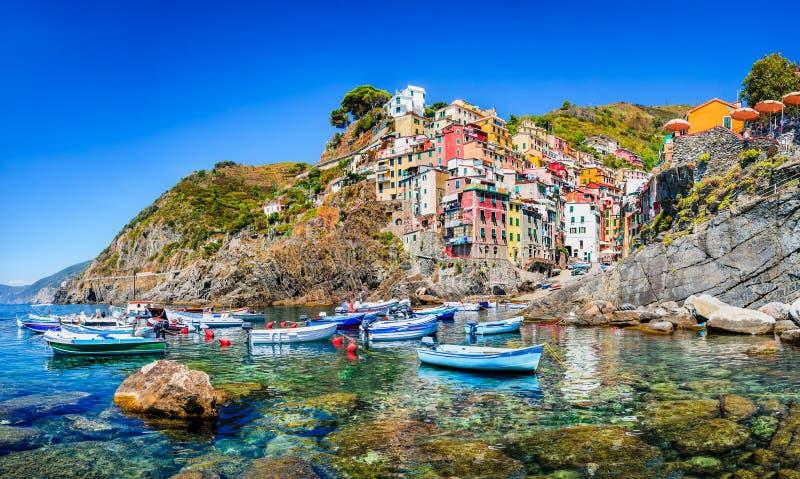 Riomaggiore, Cinque Terre, Italy foto de stock royalty free