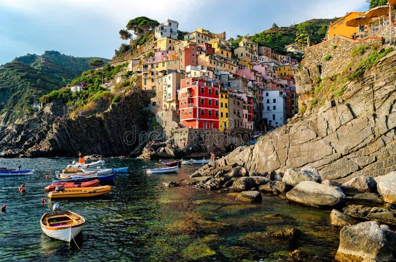 Riomaggiore (Cinque Terre Italy) fotografia de stock royalty free
