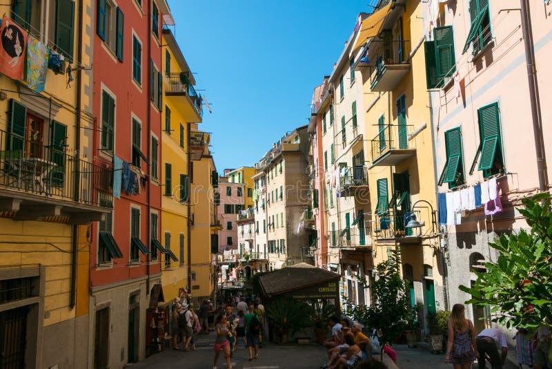 Riomaggiore, Cinque Terre, Tuskany imagem de stock royalty free