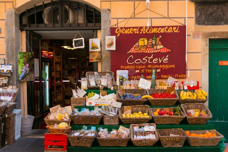 Riomaggiore, Cinque Terre, Tuskany fotografie stock libere da diritti