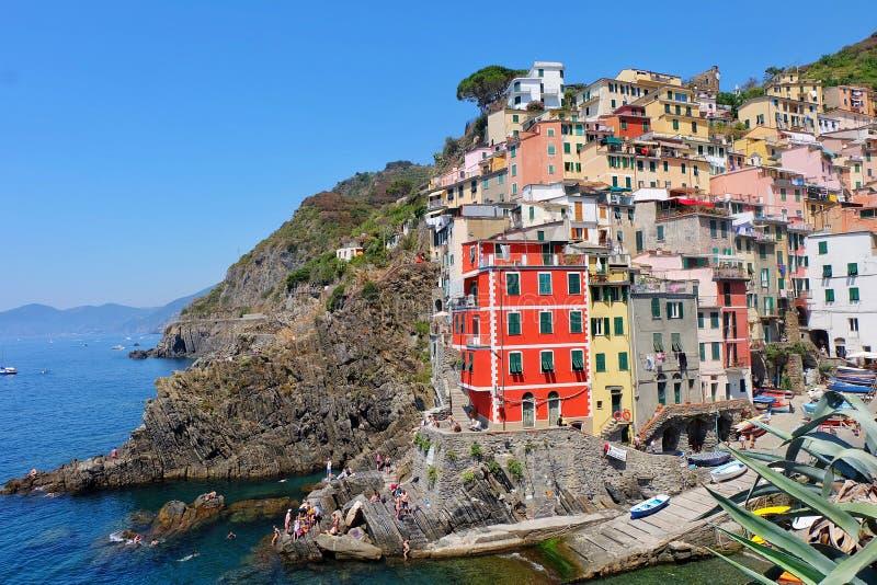 Riomaggiore, Italia foto de archivo libre de regalías