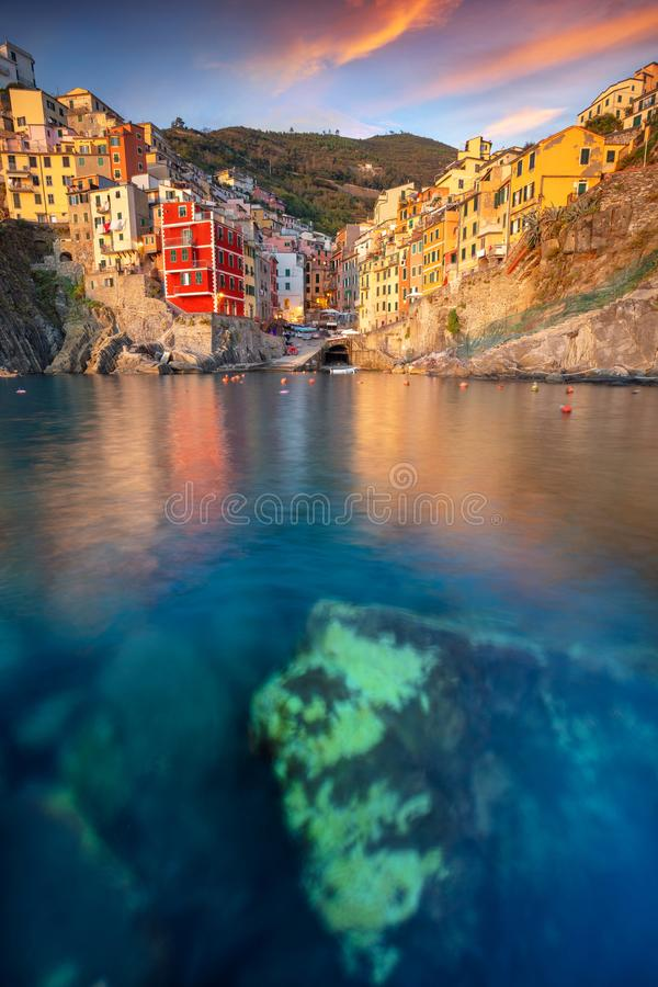 Riomaggiore, Italy. royalty free stock photo