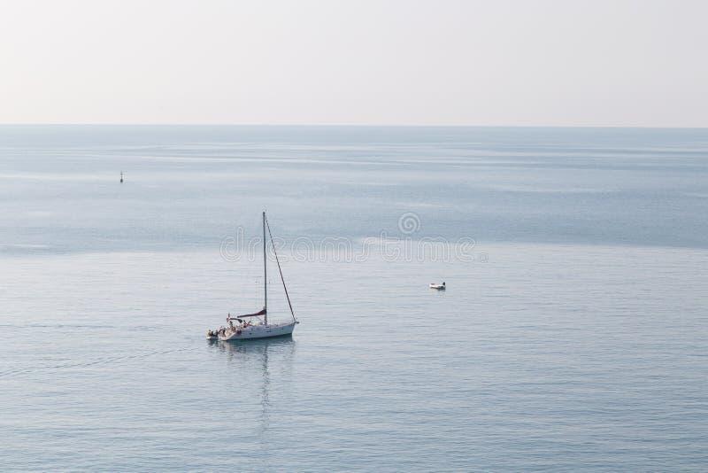 Riomaggiore-Küstenlandschaft lizenzfreies stockbild