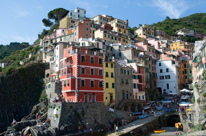 Riomaggiore, Liguria, Italia fotografía de archivo
