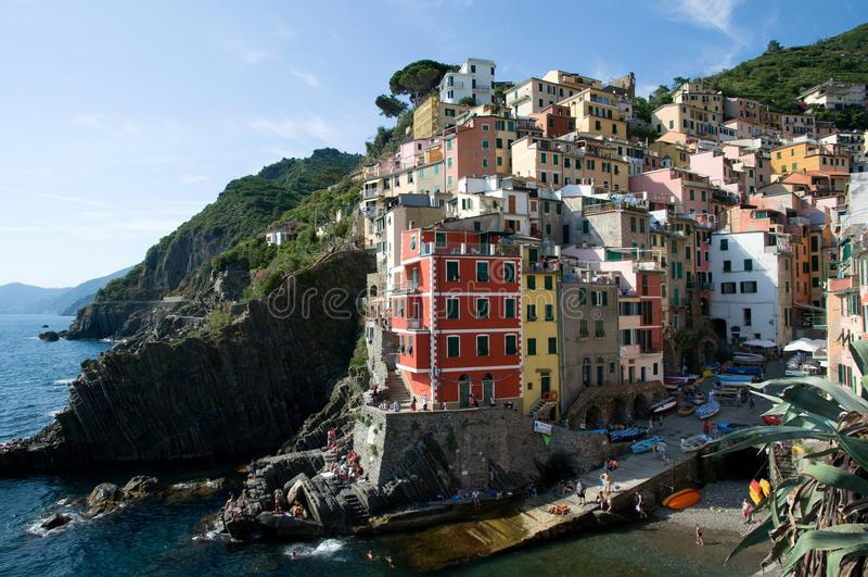 Riomaggiore, Liguria, Italia imagen de archivo libre de regalías