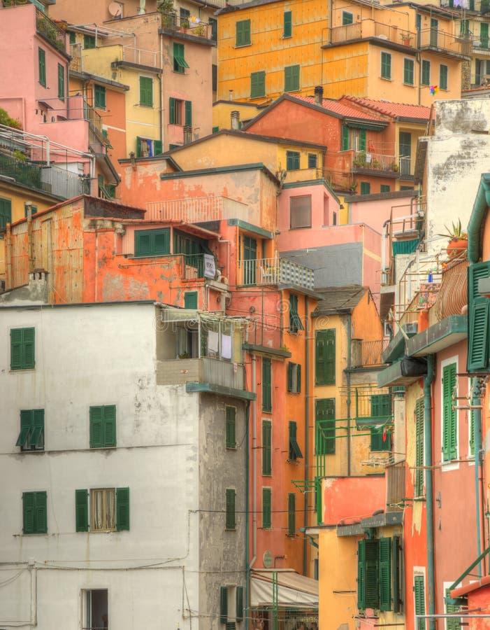 Riomaggiore - szczegół fotografia stock